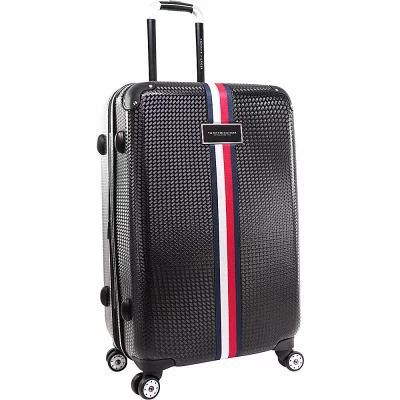 トミー ヒルフィガー Tommy Hilfiger Luggage スーツケース・キャリーバッグ Basketweave 24' Expandable Hardside Checked Spinner Luggage Black