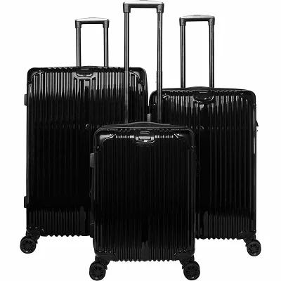 ガッビアーノ Gabbiano スーツケース・キャリーバッグ The Macan 3 Piece Expandable Hardside Spinner Luggage Set Black