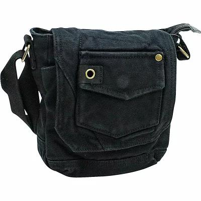 ヴァガボンド Vagabond Traveler ショルダーバッグ Tall 8' Small Canvas Slim Sling Shoulder Bag Black