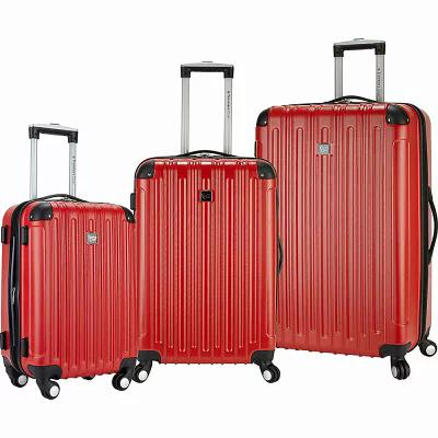 トラベラーズクラブラゲージ Travelers Club Luggage スーツケース・キャリーバッグ Madison 3 Piece 2-in-1 Hardside Spinner Luggage Set Red