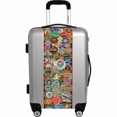 ユーゴバッグス Ugobags スーツケース・キャリーバッグ Travel Stickers By Gary Grayson 22' Luggage Silver