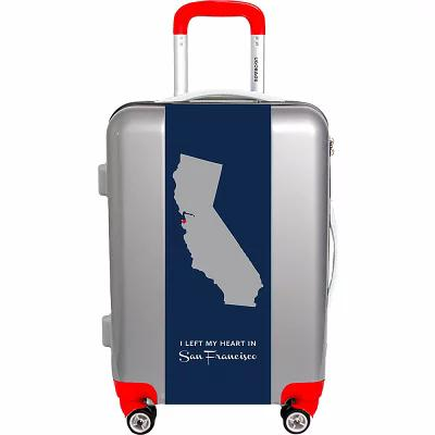 ユーゴバッグス Ugobags スーツケース・キャリーバッグ My Heart Is In Sf By Nancy Ingersoll 31' Luggage Silver