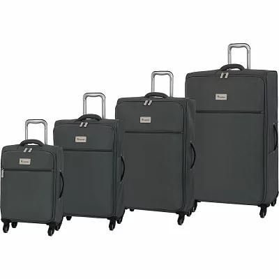 アイティ it luggage スーツケース・キャリーバッグ Hazel 4 Piece Lightweight Spinner Luggage Set Pewter