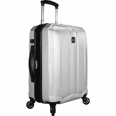 USトラベラー U.S. Traveler スーツケース・キャリーバッグ Piazza 22' Expandable Smart Spinner Luggage Silver