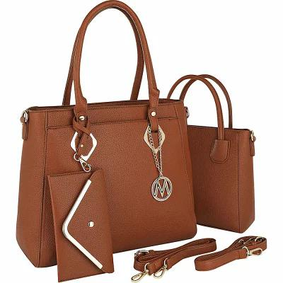 MKFコレクション MKF Collection by Mia K. Farrow ハンドバッグ Piper 3 in 1 Satchel with Matching Mini Bag and Wallet Brown