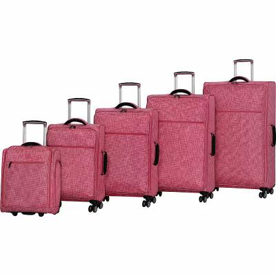 アイティ it luggage スーツケース・キャリーバッグ Stitched Squares 5 Piece Lightweight Expandable Spinner Luggage Set Camelia Rose