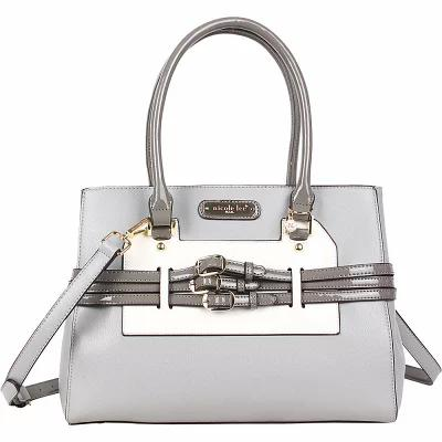 ニコルリー Nicole Lee ハンドバッグ Triple Buckle Belt Fashion Satchel Grey