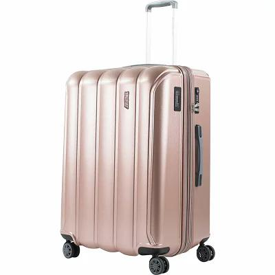アメリカングリーントラベル American Green Travel スーツケース・キャリーバッグ Aurora 24' Expandable Hardside Checked Spinner Luggage with Integrated Scale Rose Gold/Grey