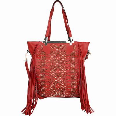 MKFコレクション MKF Collection by Mia K. Farrow ハンドバッグ Mirabelle Fringed Handbag Red