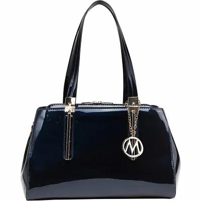 MKFコレクション MKF Collection by Mia K. Farrow ハンドバッグ Abree Patent Satchel Blue