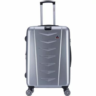 インユーエスエー inUSA Luggage スーツケース・キャリーバッグ Airworld 24' Expandable Lightweight Hardside Checked Spinner Luggage Silver