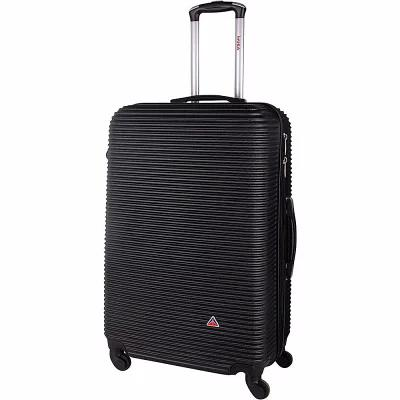 インユーエスエー inUSA Luggage スーツケース・キャリーバッグ Royal 24' Lightweight Hardside Checked Spinner Luggage Black