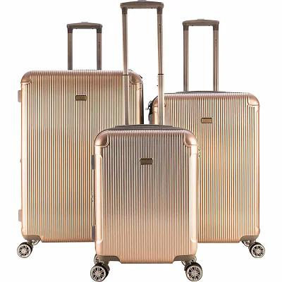 ガッビアーノ Gabbiano スーツケース・キャリーバッグ Genova 3 Piece Expandable Hardside Spinner Luggage Set Champagne
