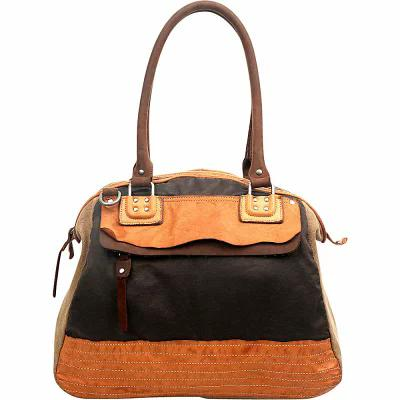 TSD ハンドバッグ Tapa Satchel Brown