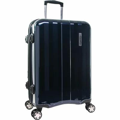 カルバンクライン Calvin Klein Luggage スーツケース・キャリーバッグ Excalibur 24' Expandable Checked Hardside Spinner Luggage Navy