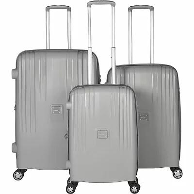 ガッビアーノ Gabbiano スーツケース・キャリーバッグ Gallo 3 Piece Expandable Hardside Spinner Luggage Set Light Gray