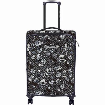 ハーレーダビッドソン Harley Davidson by Athalon スーツケース・キャリーバッグ Midnight Rider IV 21' Casual Upright Carry-On Grey Tattoo