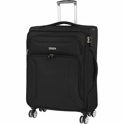 アイティ it luggage スーツケース・キャリーバッグ Megalite Fascia 26.6' Expandable Checked Spinner Luggage Black