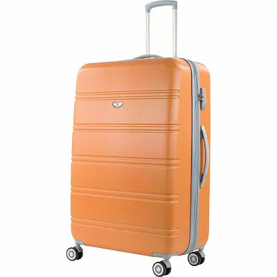 アメリカングリーントラベル American Green Travel スーツケース・キャリーバッグ Plateau 30' Expandable Hardside Checked Spinner Luggage Orange