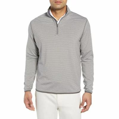 ピーター ミラー PETER MILLAR その他トップス Reversible Stripe Performance Quarter Zip Pullover Grey