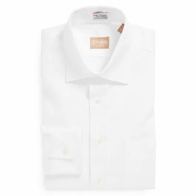 ギットマンブラザーズ GITMAN シャツ Regular Fit Pinpoint Cotton Oxford Point Collar Dress Shirt White