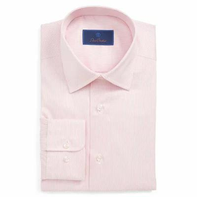 デビッドドナヒュー DAVID DONAHUE シャツ Regular Fit Stripe Dress Shirt Pink