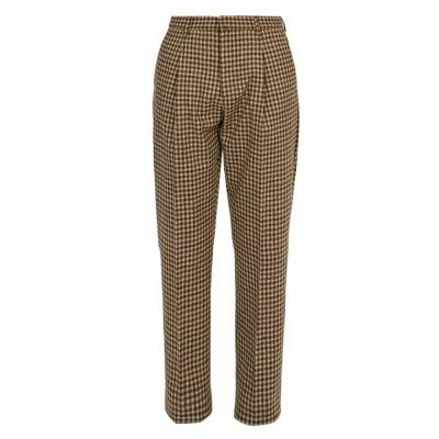 アクネ ストゥディオズ Acne Studios スラックス Boston straight-leg wool trousers Brown