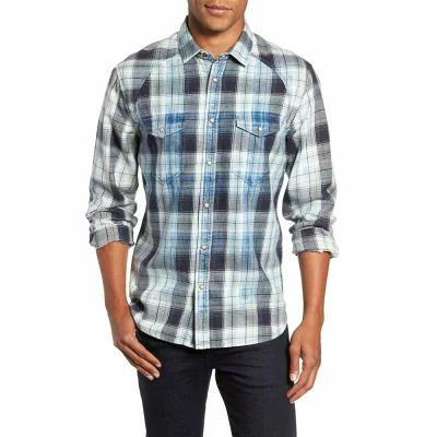 ジェレミア JEREMIAH シャツ Sawtooth Regular Fit Crosshatch Plaid Shirt Ensign Blue