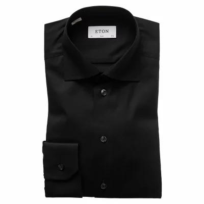 イートン ETON シャツ Slim Fit Twill Dress Shirt Black