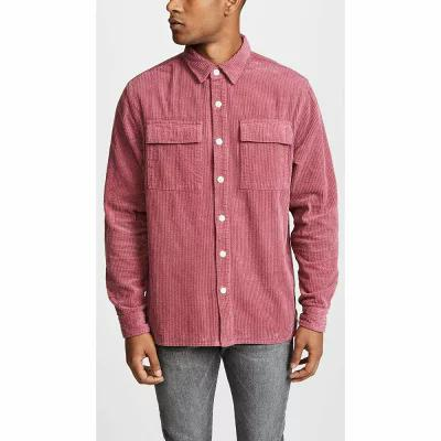 サタデーニューヨーク Saturdays NYC シャツ Magnus Heavy Cord Long Sleeve Shirt Light Plum