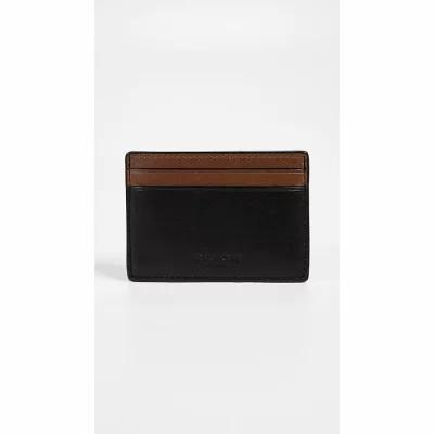 コーチ Coach New York マネークリップ Money Clip Card Case Black/Saddle