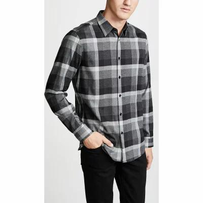 セオリー Theory シャツ Menlo Check Shirt Asphalt Check