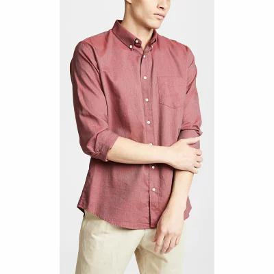 シュナイダーマン Schnayderman's シャツ Shirt Cotton Melange One Burgundy