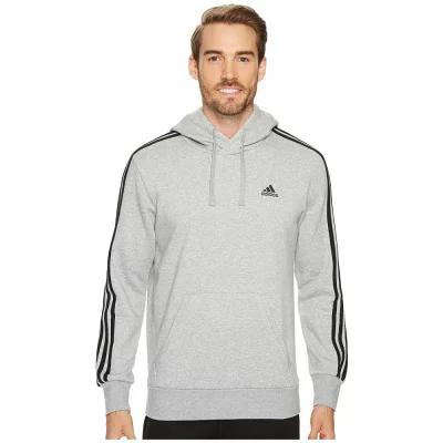 アディダス adidas フリース Essentials 3S Pullover Brushed Fleece Hoodie Medium Grey Heather/Black