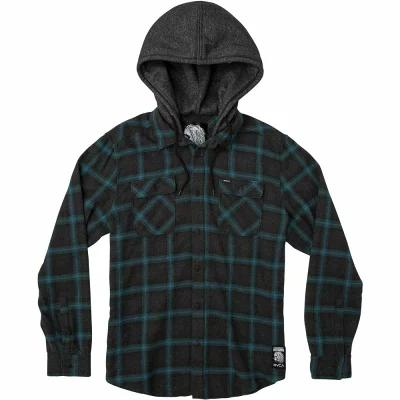ルーカ RVCA シャツ Good Hombre L/S Flannel Charcoal Heather