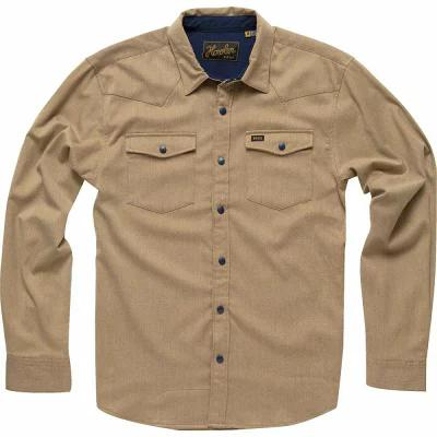 ホウラーブラザーズ Howler Brothers シャツ Stockman Stretch Long - Sleeve Snap Shirts Sandcastle Tan