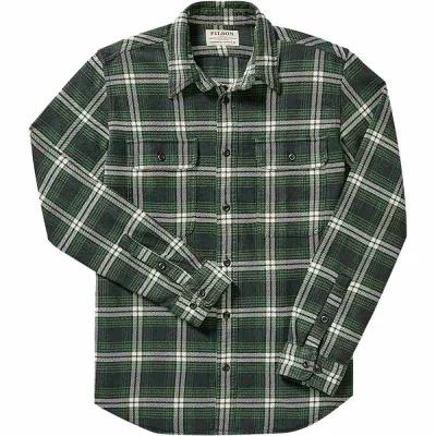 フィルソン Filson シャツ Vintage Flannel Work Shirts Black/Green/White Plaid