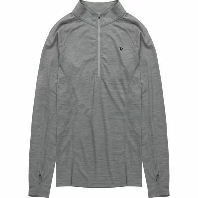 ストイック Stoic その他トップス Merino Blend 1/4 Zip Baselayer Tops Heather Grey
