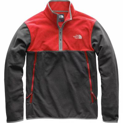 ザ ノースフェイス The North Face フリース Glacier Alpine 1/4 - Zip Fleece Pullover Jackets Asphalt Grey/Rage Red