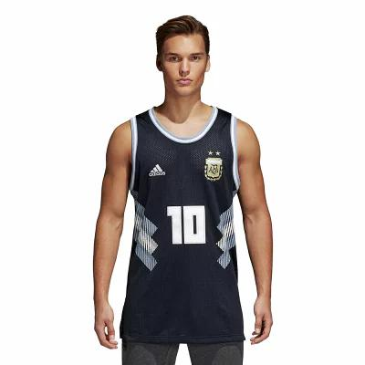 アディダス adidas タンクトップ World Cup Tank Top Jersey World Soccer Argentina Black/White/Blue Argentina