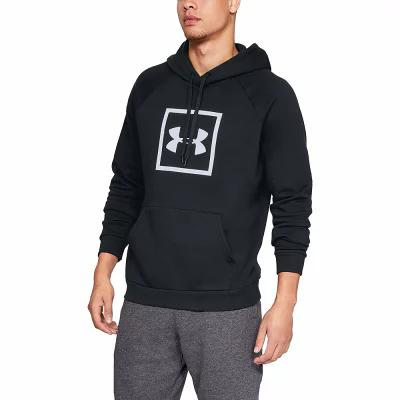 アンダーアーマー Under Armour フリース Rival Fleece Logo Hoodie Black/White