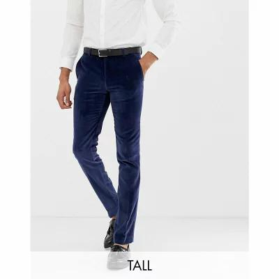 abc5a29605603 ツイステッド テイラー Twisted Tailor スラックス Tall super skinny suit trouser in navy  velvet Navy