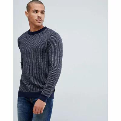 テッドベーカー Ted Baker ニット・セーター jumper with knitted stripe rib Navy