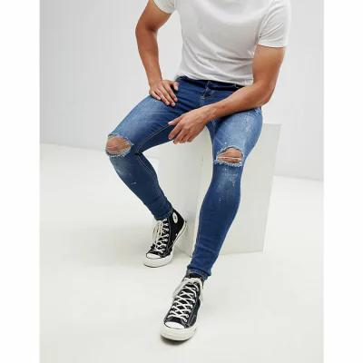 キングス ウィル ドリーム Kings Will Dream ジーンズ・デニム super skinny jeans in mid wash with paint splatter Blue