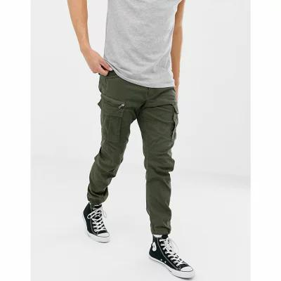 ジャック アンド ジョーンズ Jack & Jones カーゴパンツ Intelligence slim fit cargo trousers Forest