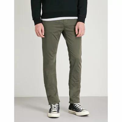 ヌーディージーンズ nudie jeans スキニー・スリム slim adam slim-fit tapered stretch organic-cotton trousers Bunker