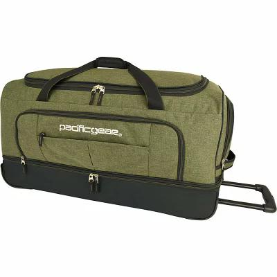 トラベラーズチョイス Traveler's Choice スーツケース・キャリーバッグ Pacific Gear Keystone 30' Drop-Bottom Rolling Duffel Bag Olive