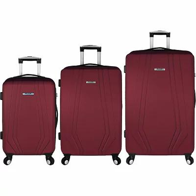 エリート Elite Luggage スーツケース・キャリーバッグ Paris 3 Piece Hardside Spinner Luggage Set Red