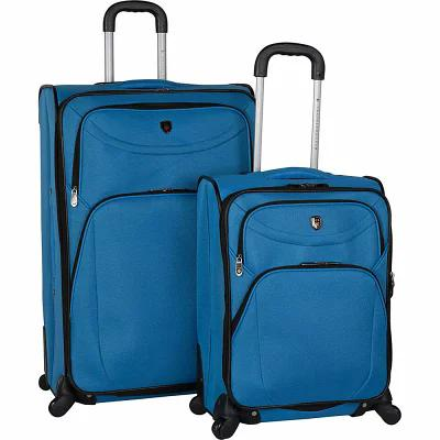 トラベラーズクラブラゲージ Travelers Club Luggage スーツケース・キャリーバッグ D-Luxe 2 Piece Expandable Spinner Luggage Set Blue
