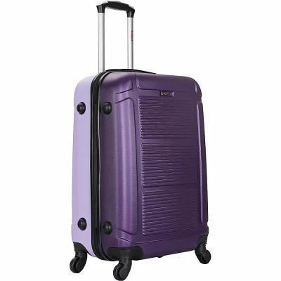 インユーエスエー inUSA Luggage スーツケース・キャリーバッグ Pilot 24' Lightweight Hardside Checked Spinner Luggage Two Tone Purple